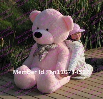 Cute Pink Giant Plush Stuffed Teddy Bear Free Shipping FT90059