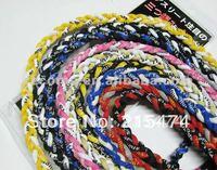 DHL free shipping Cheap titanium tornado necklace, braided Necklace,3-rope braided necklace