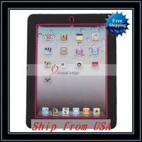 Free Shipping + Wholesale Robot Kickstand Case For iPad/For iPad3 Rose Ship from USA-87006119
