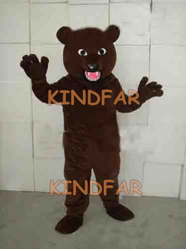 Lovely Gray black bear Mascot costume Adult Size Fancy Dress Cartoon Party ...