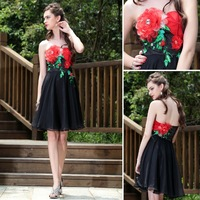 Dolly 82681 chest flower short design short skirt dress mix match formal dress dinner party bridesmaid dress