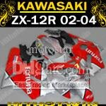 Red Fortuna Fairing for 2002 2003 2004 Kawasaki ninja ZX-12R 02-04 ZX12R 02 03 04 ZX 12R +windscreen