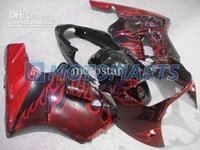 Red flame fairing kit FOR Kawasaki ninja ZX-12R 2000 2001 ZX12R 00 01 ZX 12R 00-01
