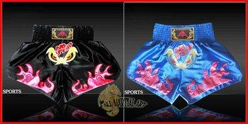 Free Shipping Muay Thai Boxing MMA Sanda Shorts Trunks Size M-XXXL Colour Black / Blue (U019) !!