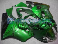 black flame green fairing kit FOR Kawasaki ninja ZX-12R 2000 2001 ZX12R 00 01 ZX 12R 00-01