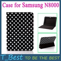 "Чехол для планшета 360 Degree Rotating PU Leather Case Cover Stand for Samsung Tab Galaxy Note 10.1"" N8000 Black Color, +Drop Shipping"