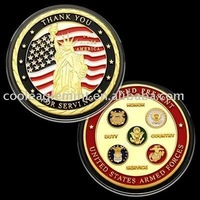 WHOLESALE LOT OF 25 U.S Armed Forces 'FOR SERVING' Challenge Coin Badge 150