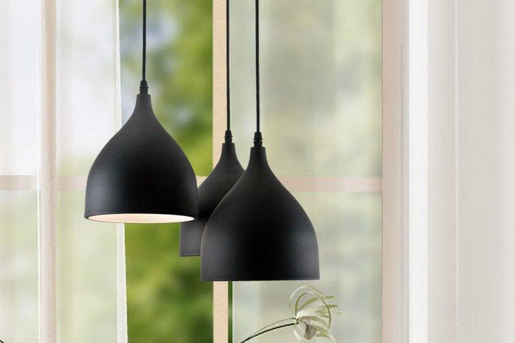 Mobilier table suspension 3 lampes pour cuisine for Suspension 3 lampes pour cuisine