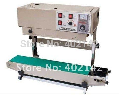 100% Warranty FR-900V verical continuous film sealing machine,vertical band sealer for liquid or paste/salt/gralnule package(China (Mainland))