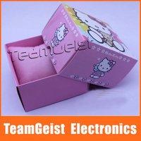 Wholesale 100pcs/lot Pretty Hello Kitty box cardboard Gift Watch BOX, Beatiful Fashion Watch Packing Box EMS Free Shipping
