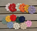 Free Shipping Round 4.3 inch  Hand made crochet Sunflower doilies - diameter :10-12cm