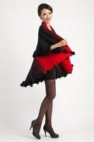 Free Shipping New Arrival Fashion Ladies 50% Wool Cloak cardigan Ladies scarf shawl  3 color