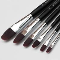6 pcs wine red nylon hair paint brush gouache watercolor brush art supplies free shipping