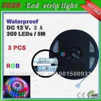 side firing leds strip 5 meter 300 leds_free shipping RGB SMD3528 led ribbon lighting rope 60 leds/m