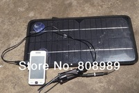 12V 8W Solar charger Solar Panel /battery charger for mobile phone/other 12V rechargeable battery Free shipping