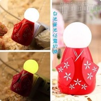 Doll light control nightlight led sensor light yellow