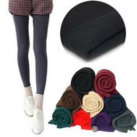 8 autumn and winter velvet brushed stain warm pants boot cut jeans step on the foot legging stockings pantyhose