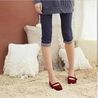 Autumn sweet faux denim shorts capris female all-match fashion legging 2