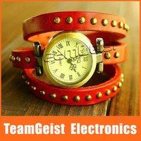 20pcs/lot Fashion Beautiful Bracelet Style Lady's Wrist Watch, Roman Fashion Quartz Watch Leather Cord Bracelet  Free Shipping
