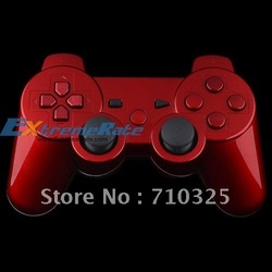 Glossy Red Housing For PS3 Controller Shell Daul Shock 3 With Full Set Matching X Circle Square Triangle Thumbsticks Dpad Insert(China (Mainland))