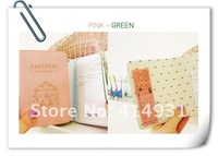 Factory price+DHL Freeshipping Whosale 500Pcs/lot South Korea Iconic Concise Temperament Of Lovers Passport Holder