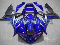 Injection molding blue gray motorcycle fairing kit for YAMAHA YZF R1 2002 2003 YZF1000 02 03 YZFR1  YZF-R1 02-03