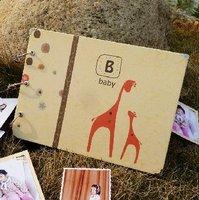 "204 corner posts 10"" diy photo albums handmade scrapbook baby child photograph sticker album"