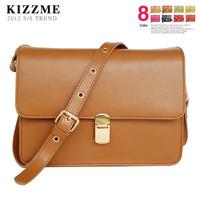 free shipping Kizzme classic box classic fashion normic brief cowhide vintage bag women's handbag messenger bag