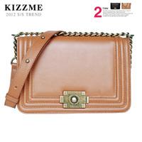 free shipping Kizzme le boy vintage bronze chain bag shoulder bag women's handbag cross-body