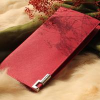 free shipping Lovers design wallet women's long design zipper cowhide card holder wallet genuine leather wallet female