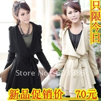 new winter tassel woolen cloth fashion fur coat
