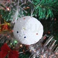 2012 Christmas Sale !!! 4 cm Christmas snow ball,Christmas balls