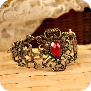 0989 fashion accessories vintage royal gem flower vine flower bracelet [Minimum order $5, mix or separate]