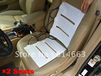 New 2 seat Carbon Fiber Universal Seat Heater Kit 4 Heating Pad 5 Gang, Free Shipping,(SH002) Wholesale/Retail