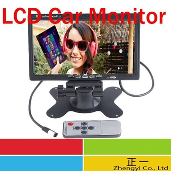 "Free Shipping DHL 7"" TFT Color LCD 2 Video Input Car RearView Headrest Monitor DVD VCR"