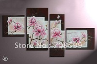 Free Shipping High Quality Guaranteed Wall Art Home Decoration  100% Hand painted Flower  Oil Painting M20121086