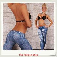 2014 New Fashion Ladies' Jeans Leggings Pants Free Size NA79020 Blue