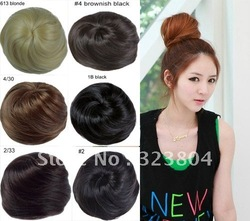 Best selling! New Arrival Fashion Women Hair Bun Ponytail Synthetic Hair Piece Free Shipping 50pcs/lot(China (Mainland))