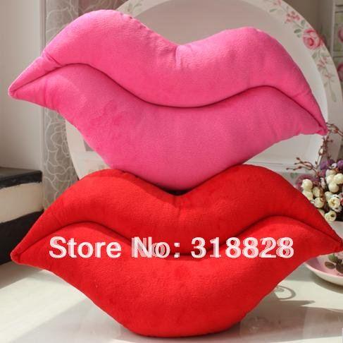 Free shipping cute plush sexy red lip pillow Sofa font b bed b font font b sleeping sex videos