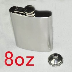 Whiskey Pocket 8oz Hip Flask Wine Liquor Alcohol Wedding Party Bar Drink Bottle[010418](China (Mainland))