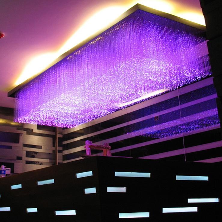 Wholesales Custom Hotel Hall Lamp Fiber Optic Pendant Light Crystal