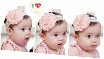 new Lace Flower Newborn Baby Infant Toddler Kid Girl Headband Christening Elastic[240820]