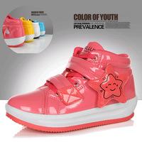 2014 Women's winter shoes trend low-top shoe female japanned leather swing casual shoes platform  platform ,retail/wholesale