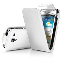 White Flip Leather Case Cover II for Samsung I8160 Galaxy Ace 2 II + Screen Protector+Free shipping cost