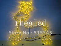 LED Christmas Flexible Rope Strip Light 30 leds per meter 110v Round 2 Wires Yellow Color Energy-saving