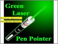 Burn matches green laser pen, Strong Power Laser Pointer pen 100mw/200mw/ 500mw Strong power green laser, burn matches. GT-L009