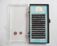 Wholesale! 5 x D curl 0.08 8mm,10mm,12mm 12 strips false eyelashes human hair eyelash extension Free Shipping