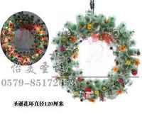 Large christmas wreath decoration 120cm garishness