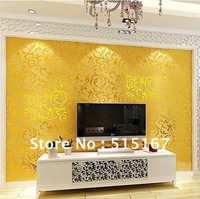 wholesale 0.53(w)*10(L)M classic pvc wallpaper Back Vinyl wallpapers for House Decoration wallcovering free shipping