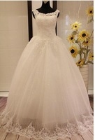 2013 Bbride Wedding Lace Embroidered Beading piece Vintage Sweet straps yarn puff skirt Wedding gowns 2013 Wedding dress